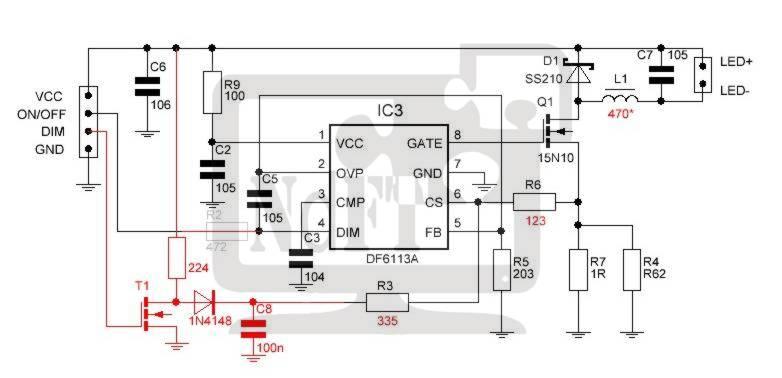 Схема подсветки led матрицы samsung