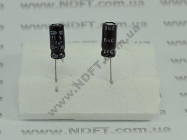 Конденсатор электролитический 100x16 RD
