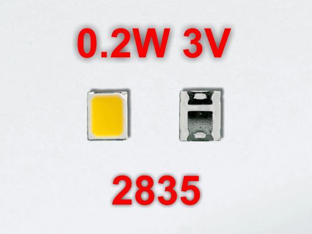 LED 2835 3v 0,2w 6500k