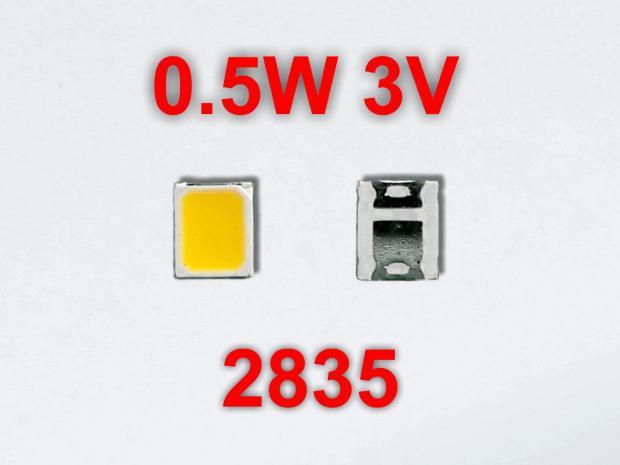 LED 2835 3v 0,5w 6500k