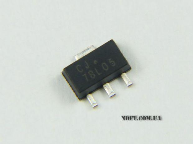 Стабилизатор 78L05 SOT89 5V 0,1A