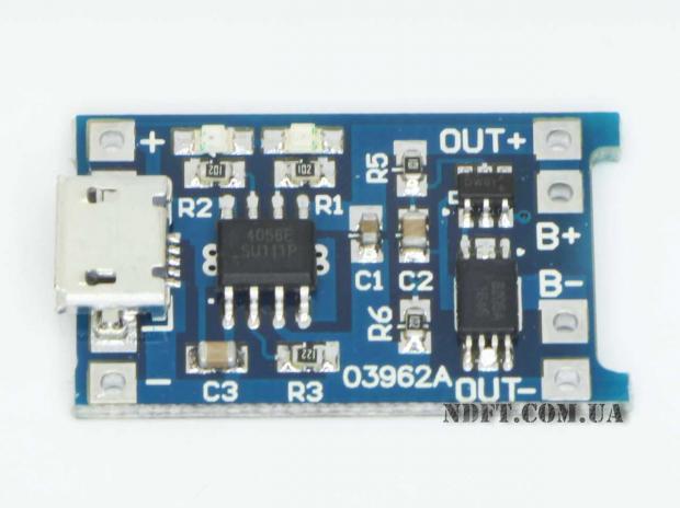 Модуль зарядки и защиты Li-ion на ТР4056