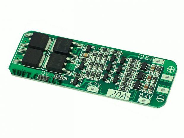 BMS Li-ion 3S 12,6V 20A защита