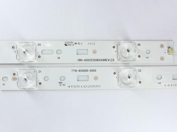 Планка LED подсветки 490мм 3v 6 диодов