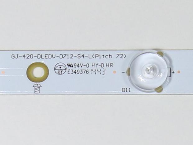Планка LED подсветки 415мм 6v 6 диодов