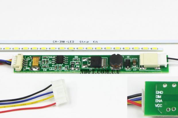 """LED подсветка для ноутбука 17,3"""" 390mm"""