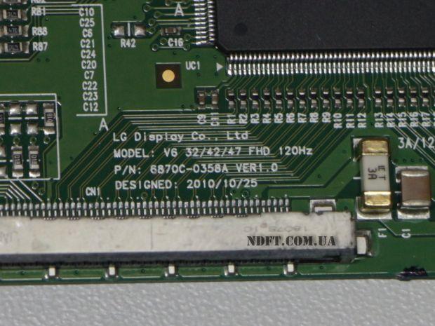"T-CON LG 47"" 120Hz 6870C-0358A Ver1.0"