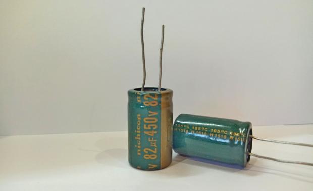 Конденсатор электролитический 82мкФ x 450В Nichicon