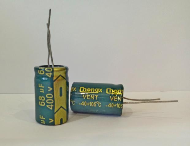 Конденсатор электролитический 68мкФ x 400В Chongx