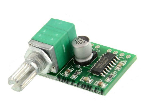 Усилитель ЗЧ PAM8403 3Вт с регулятором