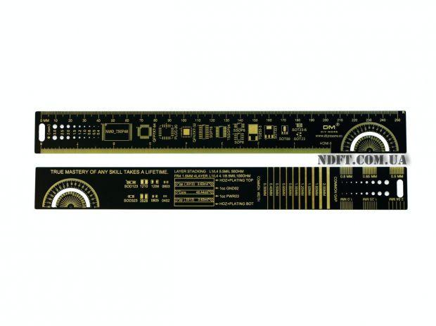 Линейка для электронщика PCB ruler 25 см