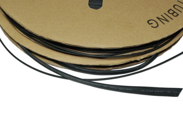 Термоусадочная трубка 2мм 2:1 черная
