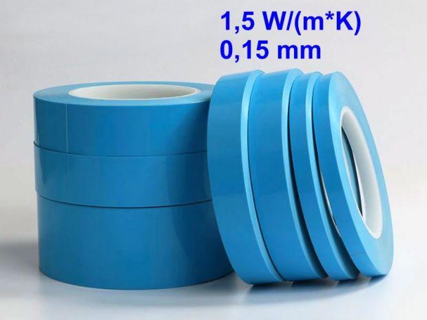 Теплопроводящий двухсторонний скотч 15мм 25м