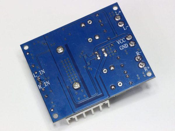 Усилитель на TDA7492 2x50Вт вид сзади