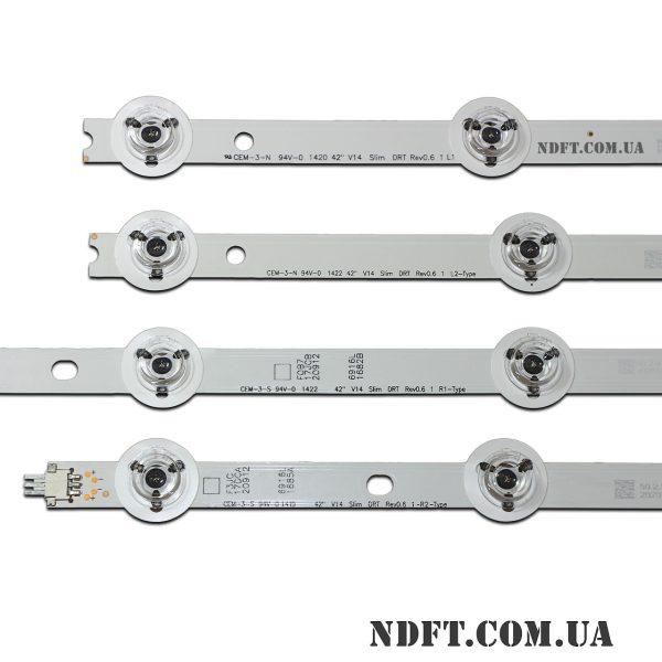 Комплект LED подсветки LG V14 Slim DRT Rev0.6 вид2
