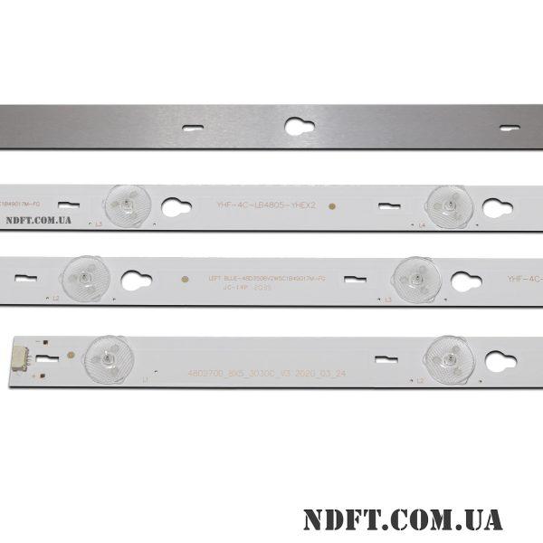 LED подсветка YHF-4C-LB4805-YHEX2 TOT-48D2700-8X5-3030C-V3 02