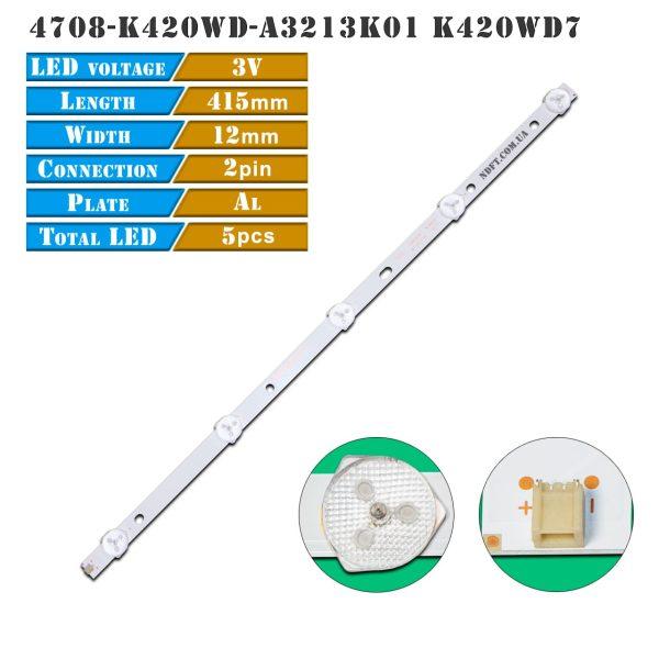 led подсветка 4708-K420WD-A3213K01 K420WD7 01