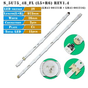 led подсветка S_5U75_48_FL_L5-LM41-00121H S_5U75_48_FL_R6-LM41-00121G 01