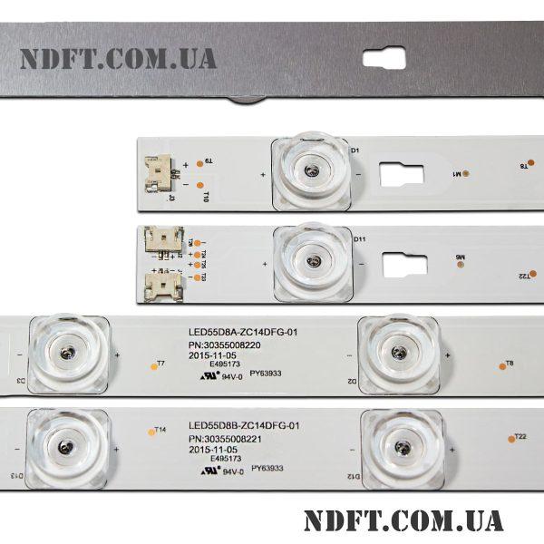 LED подсветка LED55D8A-LED55D8B-ZC14DFG-01 LED55D10A-LED55D10B-ZC14AG-01 02