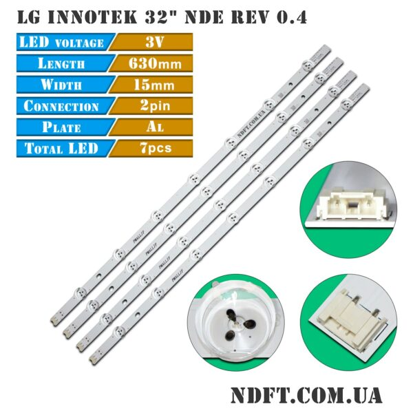 """LED подсветка LG-innotek-32""""-NDE-rev-0.4 01"""