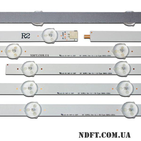 """LED подсветка LG-55""""-ROW2.1-Rev0.1 02"""