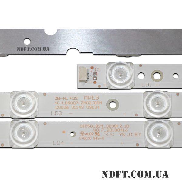 LED подсветка GIC50LB24-3030F2.1D 4C-LB5007-ZM02J89M 02