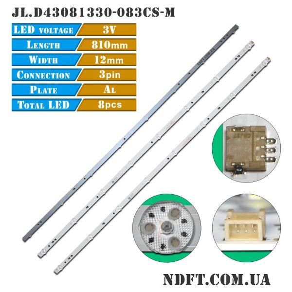 LED подсветка JL.D43081330-083CS-M 01