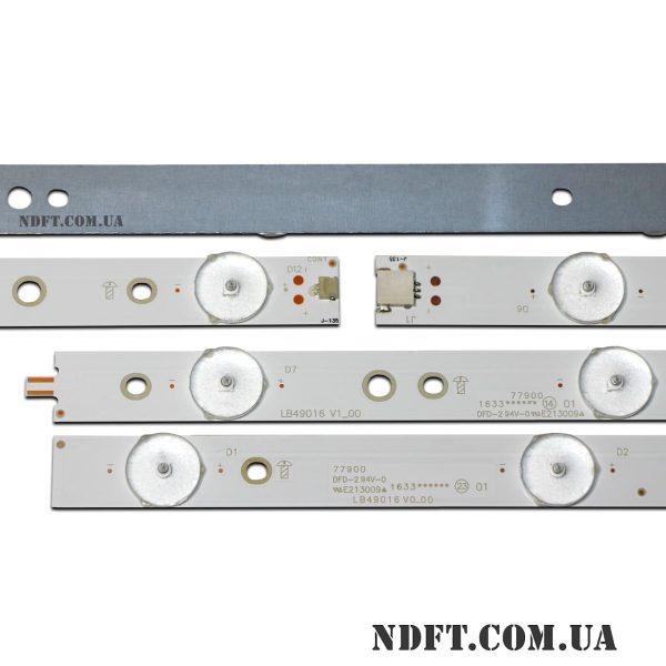 LED подсветка LB49016 V0_00+V1_00 GJ-2K16-490-D712-P5-R/L 02