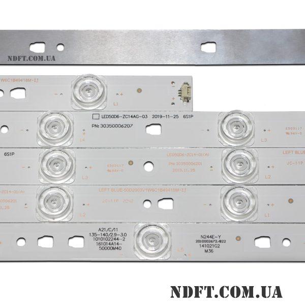 LED подсветка LED50D6-ZC14-01(A) LED50D6-ZC14AG-03 LED50D6-01(A) 02