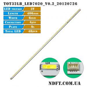 LED подсветка TOT32LB_LED7020_V0.2 01