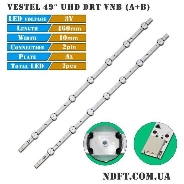 LED подсветка VESTEL-49″ UHD-DRT-VNB 01