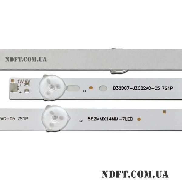 LED D32D07-JZC22AG-05 7S1P 562MMX14MM-7LED 6V 02