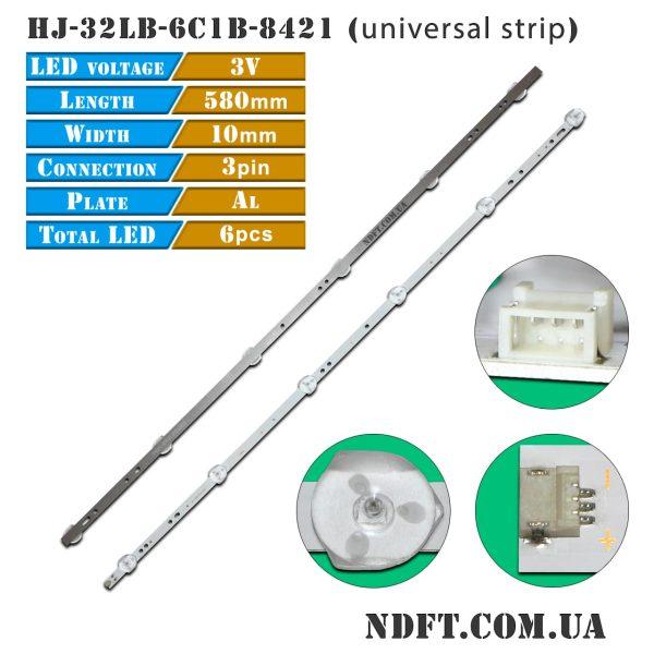 LED подсветка HJ-32LB-6C1B-8421 3V 01