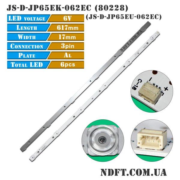 LED подсветка JS-D-JP65EK-062EC JS-D-JP65EU-062EC 01