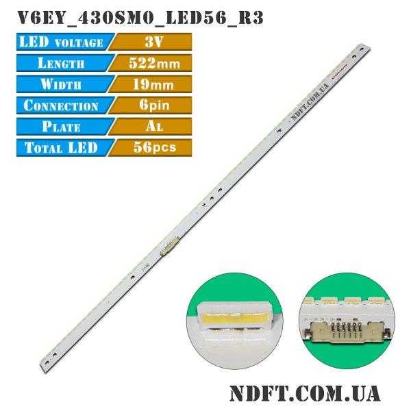 LED-подсветка V6EY_430SM0_LED56_R3 BN96-39506A LM41-00299A 01