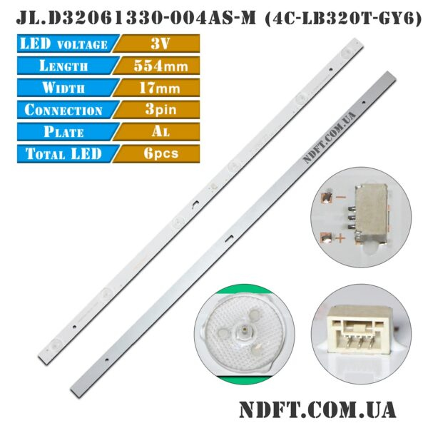 LED подсветка JL.D32061330-004AS-M 4C-LB320T-GY6 01