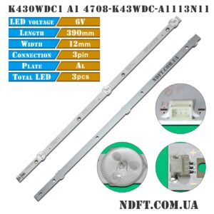 LED подсветка K430WDC1 A1 4708-K43WDC-A1113N11 01