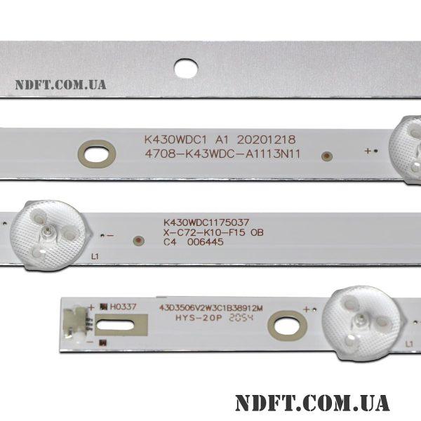 LED подсветка K430WDC1 A1 4708-K43WDC-A1113N11 02